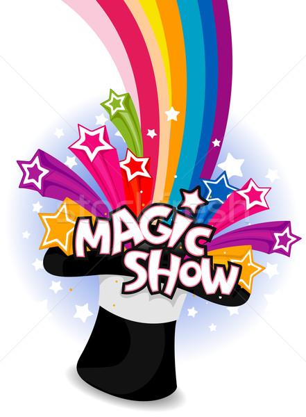 магия шоу Flyer дизайна фон искусства Сток-фото © lenm