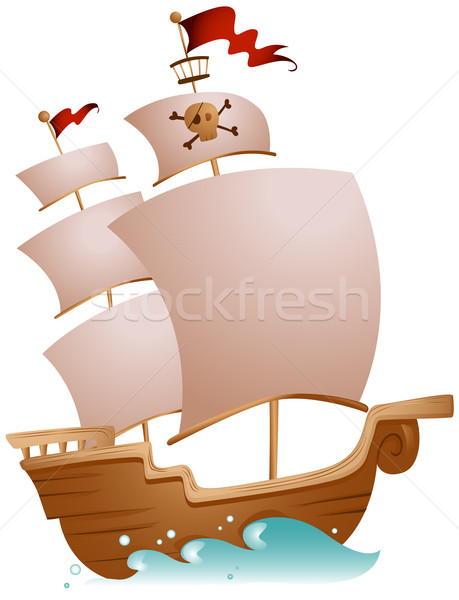 Pirate Ship Stock photo © lenm