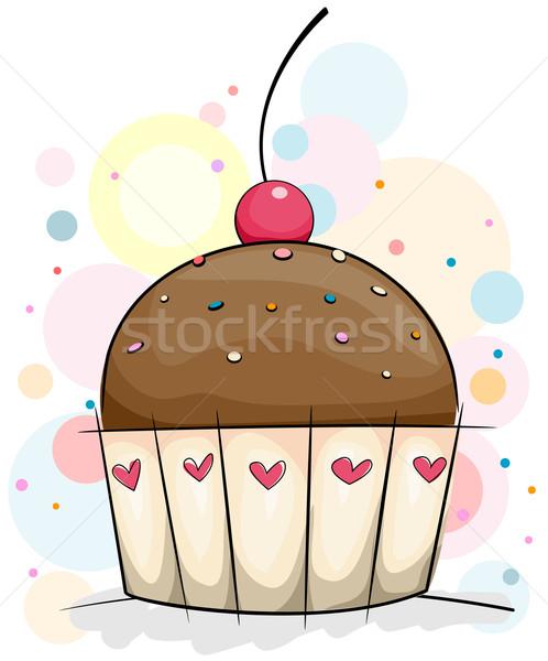 Chocolate Cupcake Stock photo © lenm