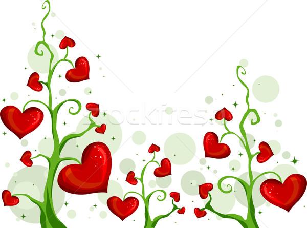 Stok fotoğraf: Sevmek · örnek · sarmaşıklar · çiçekler · bahçe