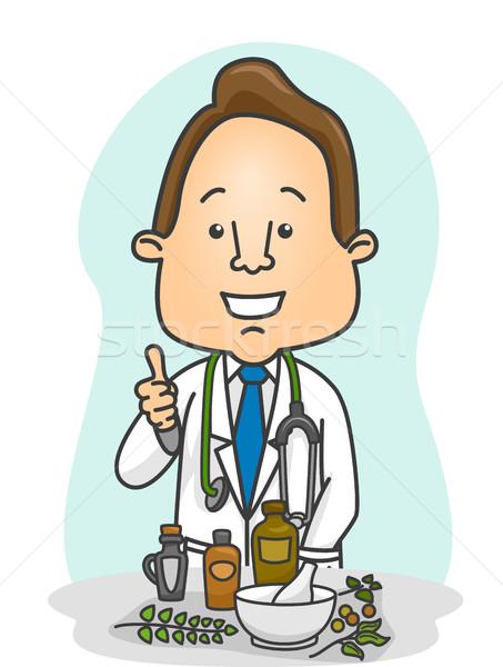 человека врач иллюстрация мужской доктор Сток-фото © lenm
