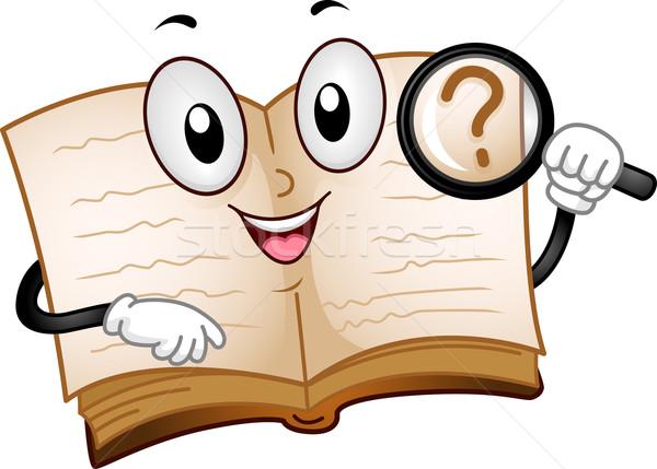 Book Mascot Search Stock photo © lenm