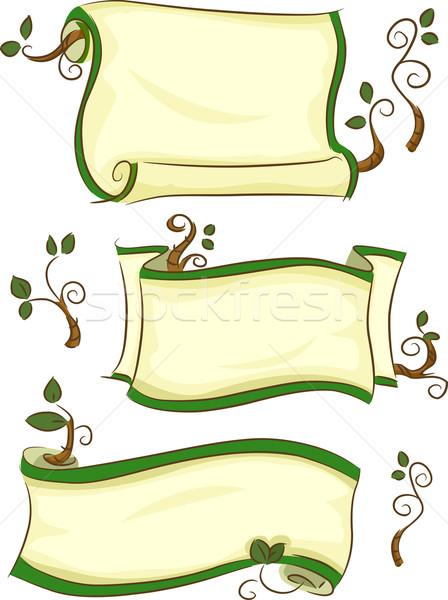 Eco-friendly Scrolls Stock photo © lenm