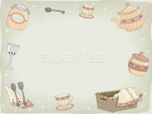Country Kitchen Design Background Stock photo © lenm