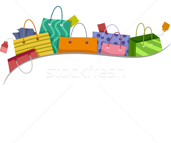 Shopping Bags Border Stock photo © lenm