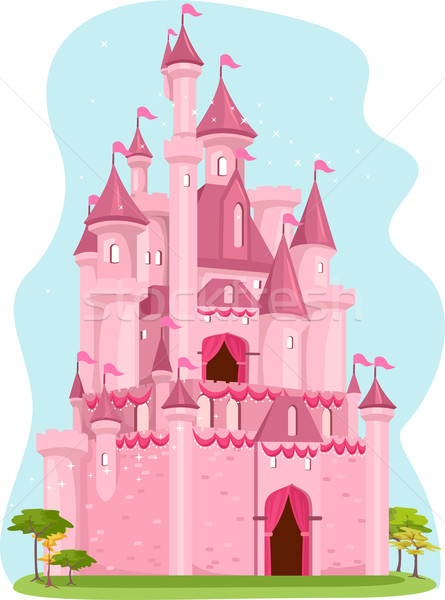 Pink Castle Stock photo © lenm