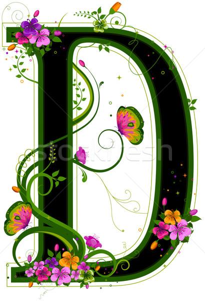 Stock photo: Floral Alphabet