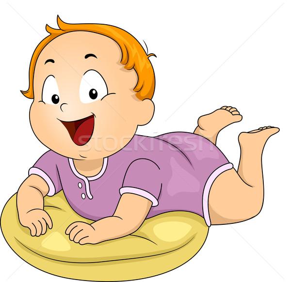 Baby Boy Pillow Stock photo © lenm