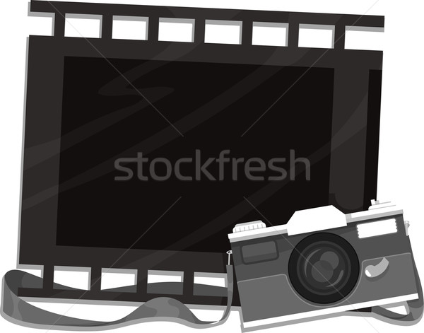 Camera and Filmstrip Frame Stock photo © lenm