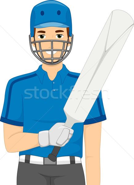 Kriket örnek adam oynamak oyun erkek Stok fotoğraf © lenm