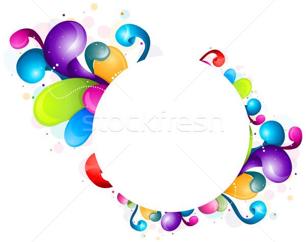 rainbow design frame vector illustration 169 lenm 489425