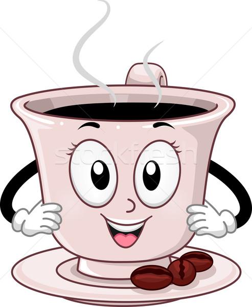 Mascot Coffee Stock photo © lenm