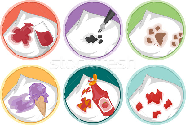 Laundry Stains Icons Stock photo © lenm
