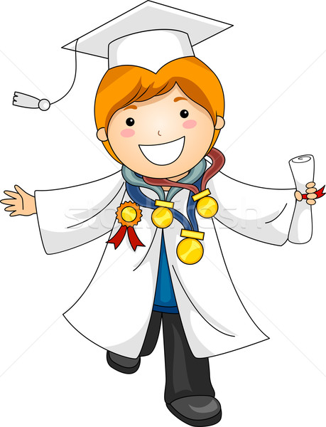 Kid Graduation Awards Vector Illustration 169 Lenm 822335
