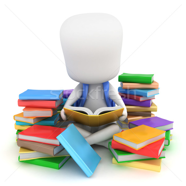 Stock photo: Bookworm