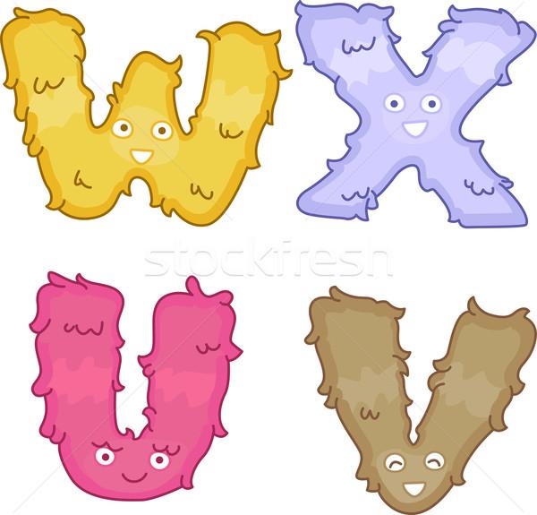 Alphabet Plush Toys Stock photo © lenm