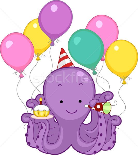Octopus Birthday Party Stock photo © lenm