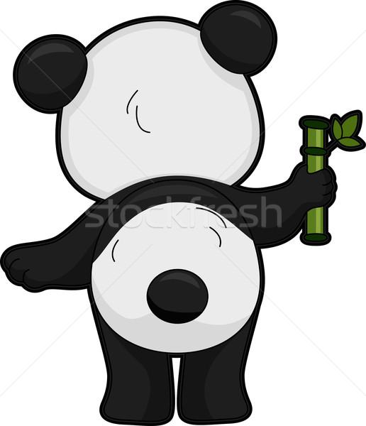 巨人 パンダ 背面図 実例 ベクトル 孤立した ストックフォト © lenm