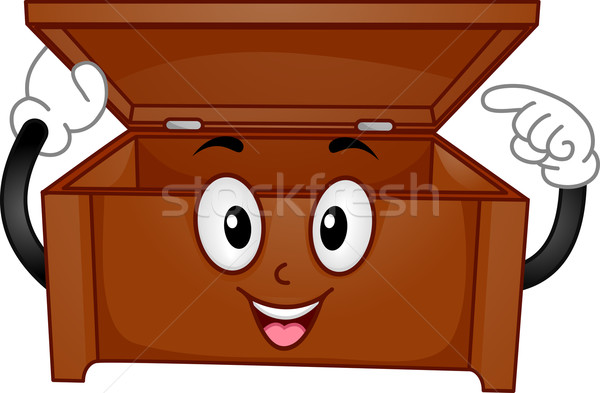 Wooden Chest Mascot Stock photo © lenm