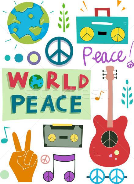 Pace design elementi illustrazione diverso amore Foto d'archivio © lenm