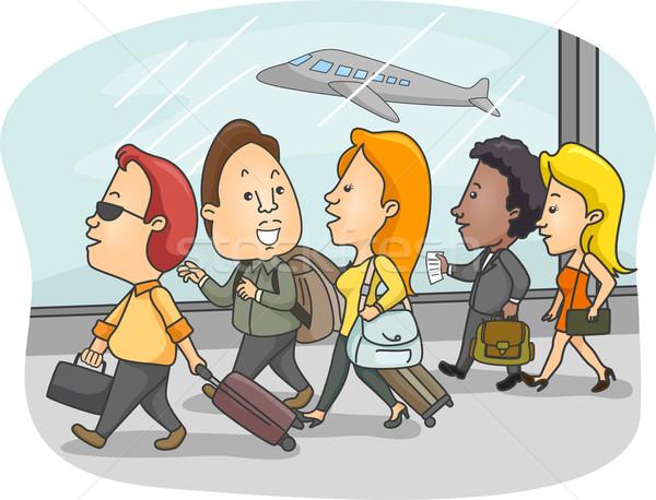 Airport Passengers Stock photo © lenm