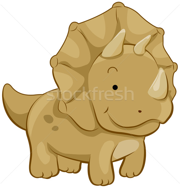 Cute Triceratops Stock photo © lenm