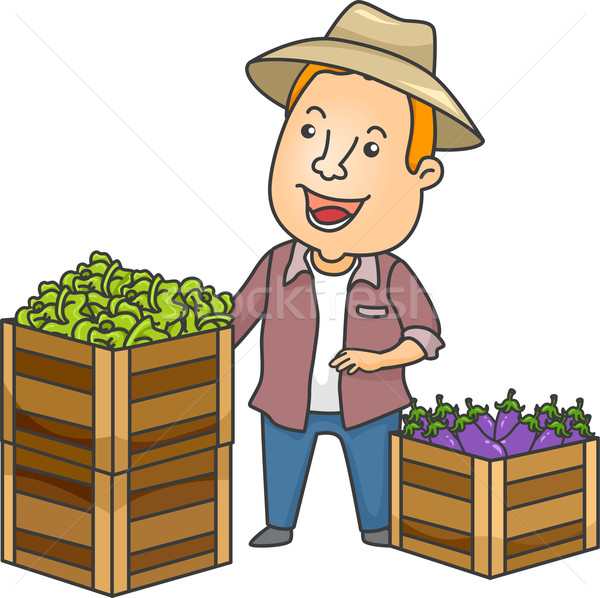 Agriculteur illustration permanent homme Photo stock © lenm