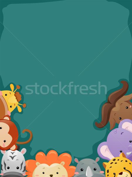 サファリ 背景 実例 ショット サファリ動物 デザイン ストックフォト © lenm