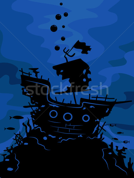 Ghost Ship Silhouette Stock photo © lenm