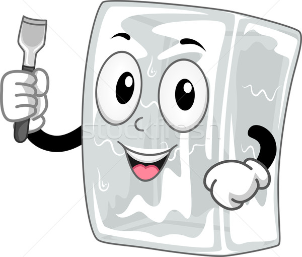 Glace ciseler mascotte illustration art Photo stock © lenm