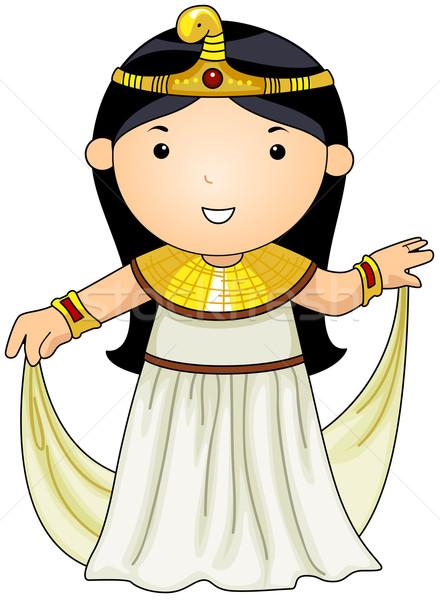 Egipcjanin ilustracja kobieta kostium dziewczyna asian Zdjęcia stock © lenm