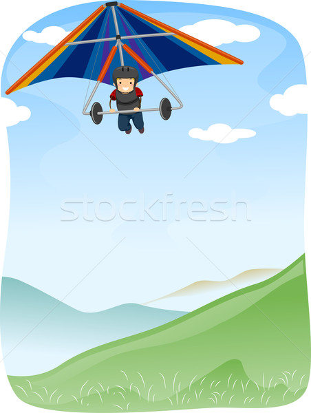 Stickman Hang Gliding Stock photo © lenm