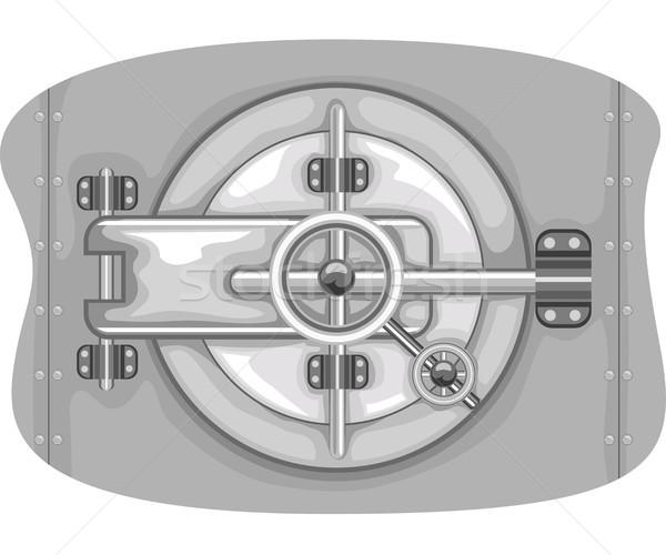 Bank Vault Lock Stock photo © lenm