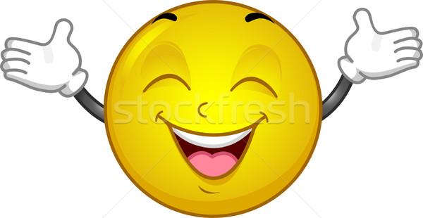 Happy Smiley Stock photo © lenm