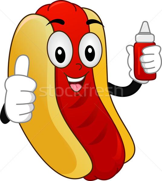 Mascot  Hotdog Sandwich Stock photo © lenm