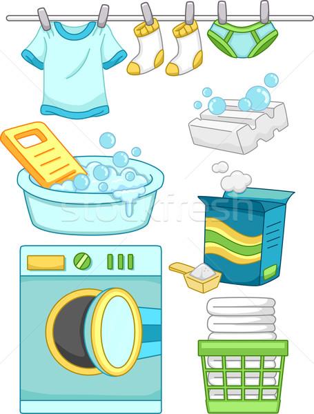 Laundry Elements Stock photo © lenm