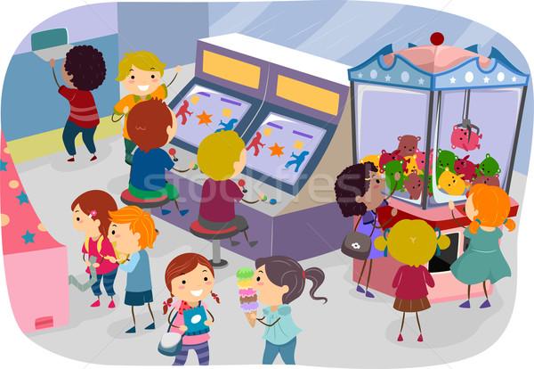 Arcade Kids Stock photo © lenm