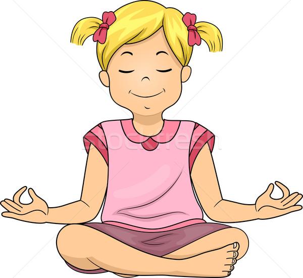 Meditating Girl Stock photo © lenm