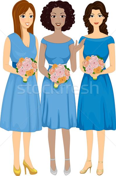 Diverse Bridesmaids Stock photo © lenm