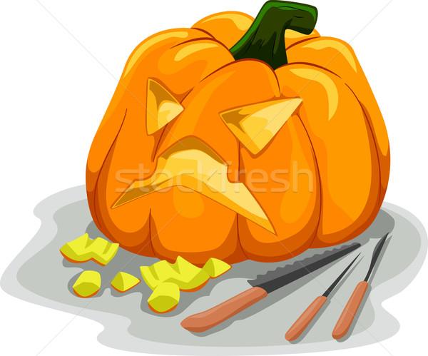 Pumpkin Carving Tools Stock photo © lenm