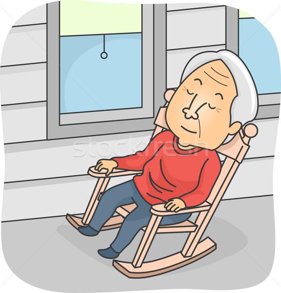 Napping Senior Stock photo © lenm