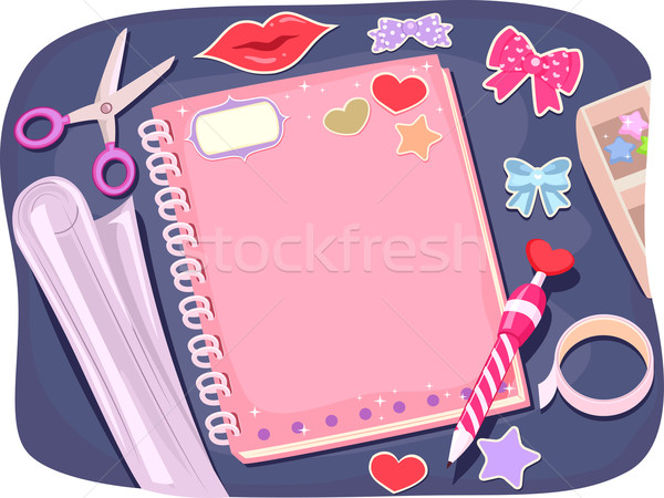 Notebook Designing Stock photo © lenm