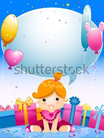 Baby Shower Stock photo © lenm