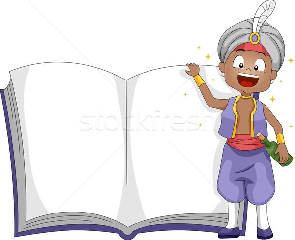 Genio libro ilustración pie nino Foto stock © lenm