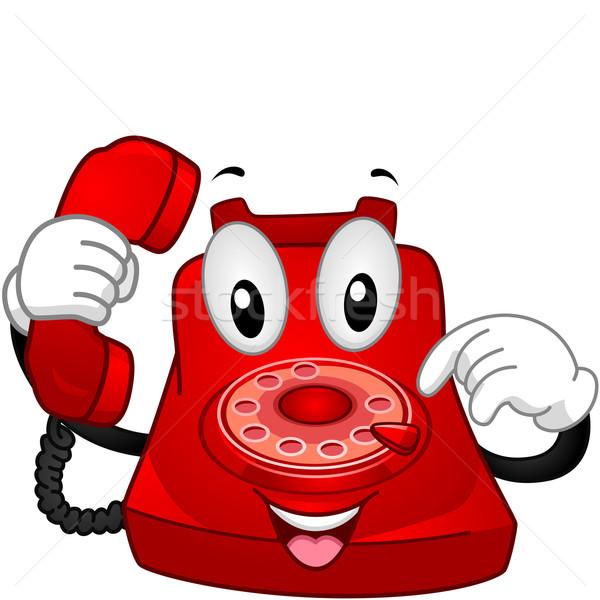Telephone Mascot Vector Illustration 169 Lenm 1765120 Stockfresh