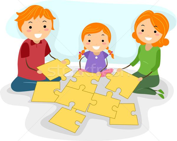 Rodziny działalność ilustracja wraz człowiek Zdjęcia stock © lenm