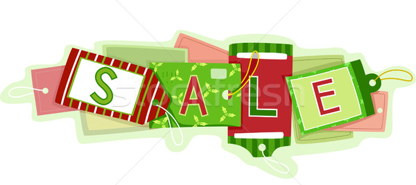 Christmas Sale Price Tags Stock photo © lenm