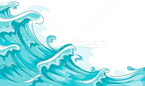 Waves Stock photo © lenm