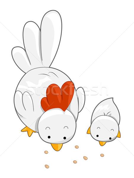 かわいい 鶏 ひよこ 鳥 動物 ストックフォト © lenm
