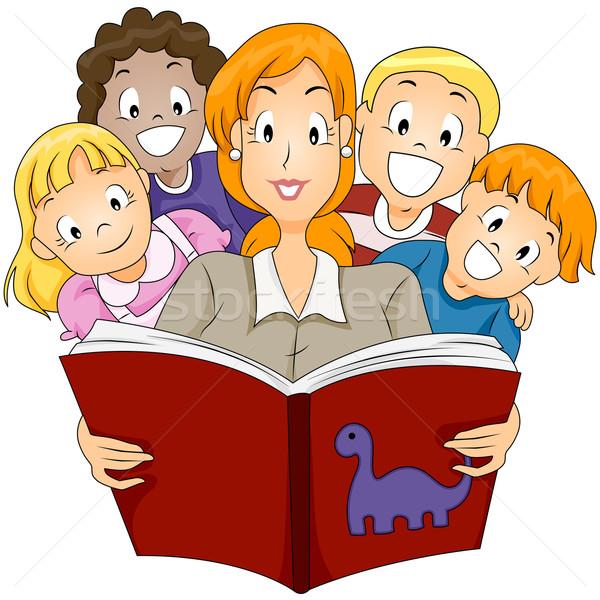 Verhalenboek verhaal school kinderen jongen Stockfoto © lenm